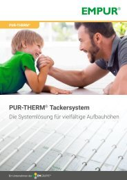 EMPUR PUR-THERM Tackersystem