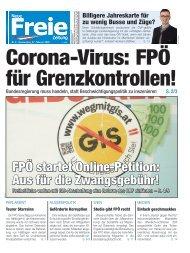 Corona-Virus: FPÖ für Grenzkontrollen!