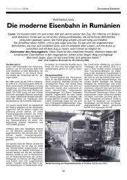 Die moderne Eisenbahn in Rumänien