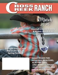 Cross Creek Ranch March 2020