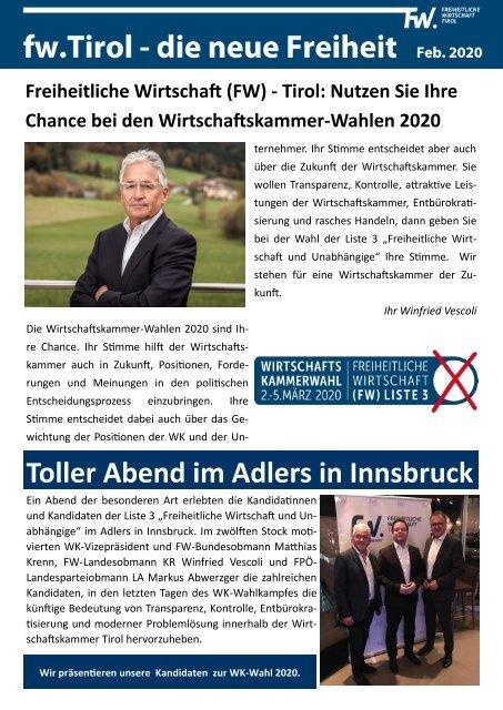 FW Tirol - WK Wahlen 2020