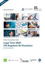 Legal Tech 2020: 150 Angebote für Kanzleien