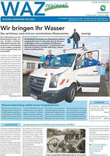 Wir bringen Ihr Wasser - Heidewasser GmbH