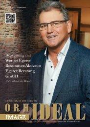 Werner Egerer Egerer Beratung GmbH im Orhideal IMAGE Magazin - Oktober 2020