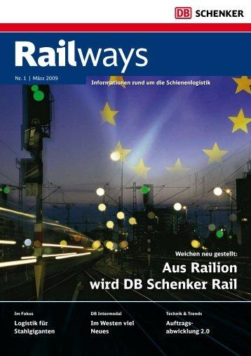 Aus Railion wird DB Schenker Rail - DB Schenker Rail Deutschland ...