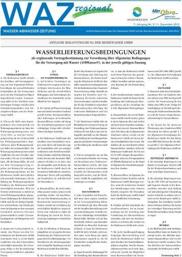 Aller-Ohre - Heidewasser GmbH