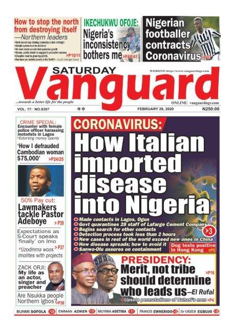29022020 - How italian imported disease into Nigeria