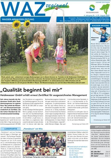 geschäftsführers für das Wirtschaftsjahr 2008 - Heidewasser GmbH