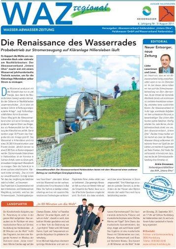 Die Renaissance des Wasserrades - Heidewasser GmbH