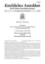 Hirtenbrief an die Gemeinden der Diözese Rottenburg-Stuttgart zur österlichen Bußzeit 2020
