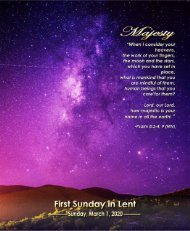 March 1, 2020 Bulletin 1st Sunday in Lent