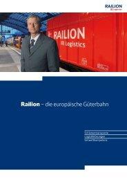 PDF herunterladen : Geschäftsfeldbroschüre Railion 2007