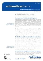 Schweitzer Thema für Rechtsanwälte und Steuerberater 1/20: Mitarbeiter finden und binden