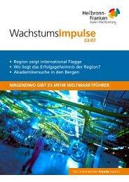 Wachstumsimpulse 03/07 - Wirtschaftsregion Heilbronn - Franken