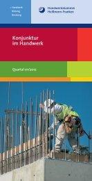 Konjunktur im Handwerk - Wirtschaftsregion Heilbronn - Franken