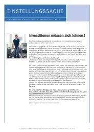 Investitionen müssen sich lohnen ! - Wirtschaftsregion Heilbronn ...