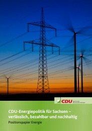 CDU-Energiepolitik für Sachsen