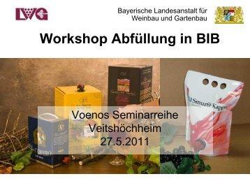 Einführung zu 'Bag in Box' - Bayerische Landesanstalt für Weinbau ...
