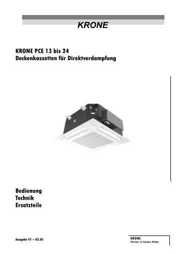 KRONE PCE 13 bis 24 Deckenkassetten für Direktverdampfung ...