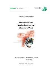 Modulhandbuch Medienkonzeption - Hochschule Furtwangen