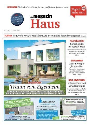 """Der MesseGuide zur immobilienmesse bielefeld 2020 im Magazin """"Haus"""" der NW"""