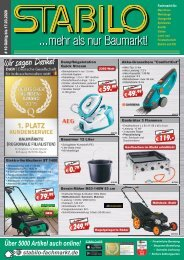 STABILO ...mehr als nur Baumarkt - aktuelles Werbeprospekt #10 - 2020