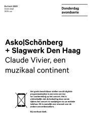 2020 03 05 Asko|Schönberg + Slagwerk Den Haag