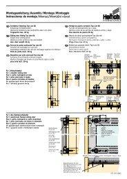 Montageanleitung/Assembly/Montage/Montaggio ... - Hettich