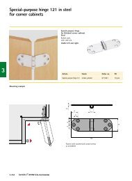 Special-purpose hinge 121 in steel  for corner cabinets - Hettich