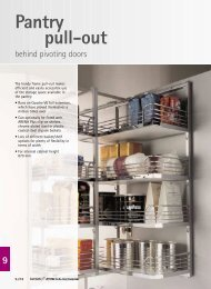 Pantry pull-out behind pivoting doors Assembly - Hettich
