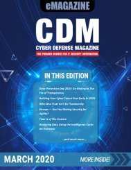 Cyber Defense eMagazine March 2020 Edition
