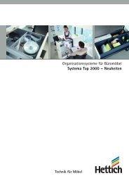 Organisationssysteme für Büromöbel Systema Top 2000  ... - Hettich