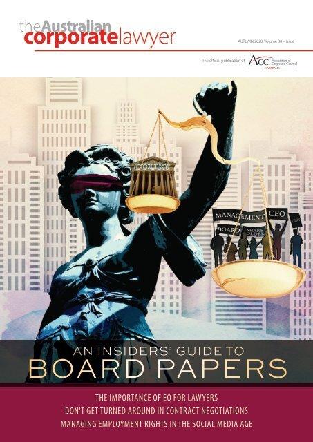 Australian Corporate Lawyer - Autumn 2020