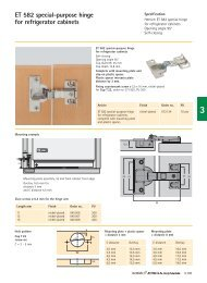 Glass door hinge GT 6000 - Hettich