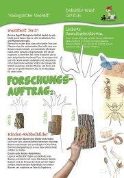 Umweltdetektive: Aktionen Biologische Vielfalt