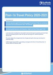 Post-16 Travel Policy 2020-2021