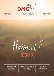 DMG-informiert 1/2020 // Thema: Heimat? Jesus.