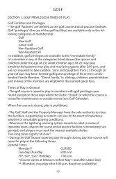 2020 Golf Information