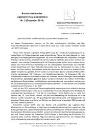 Rundschreiben Nr. 2 - Lippmann+Rau-Musikarchiv