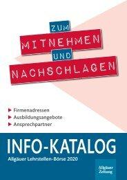 Info-Katalog Allgäuer Lehrstellen-Börse 2020