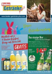 Baden Getränke Plus 23.03.2020