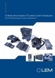 DI Series Shunt Isolator - LEM