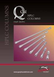 Greyhound Chromatography Q-Col HPLC Columns Catalogue