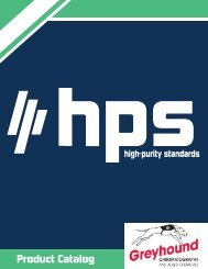 High Purity Standards (HPS) Product Catalogue NEW UPDATE 2020