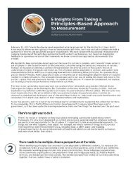 5 Insights from Taking a Principles-Based Approach to Measurement
