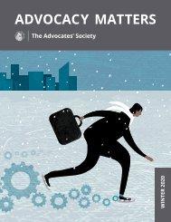 Advocacy Matters Winter 2020