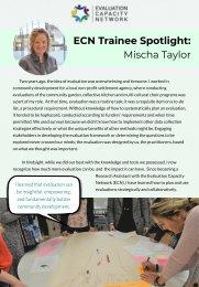 ECN Trainee Spotlight: Mischa Taylor