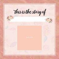 Girls Baby Memory Book Bloom