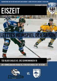 TSG Black Eagles vs. ERC Schwenningen 08 03 2020