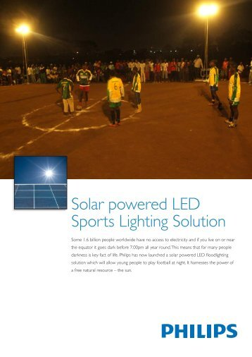 Solar powered LED Sports Lighting Solution - Philips Lighting